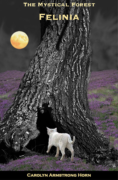 Cats at night -tree cover-painted-2c2